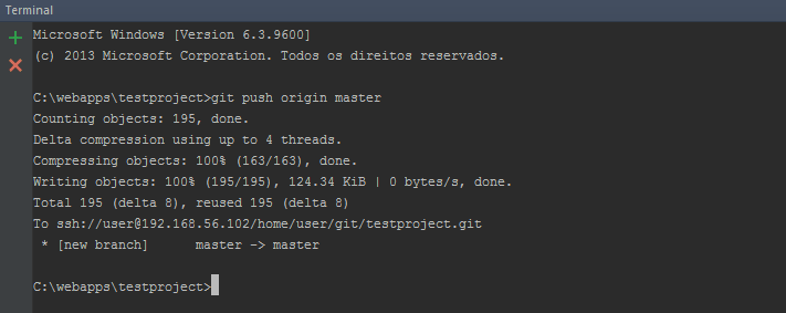 Install SSH and Git on Linux (Continuous integration part 2) images/09-instalar-ssh-git-linux-configurar-maquina-desenvolvimento-windows-integracao-continua/176-git-push-origin-master-terminal.png