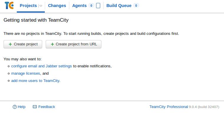 Instalar e configurar TeamCity 9 em Linux images/11-install-and-configure-teamcity-9-linux-mint-ci-server/212-teamcity-installed.png