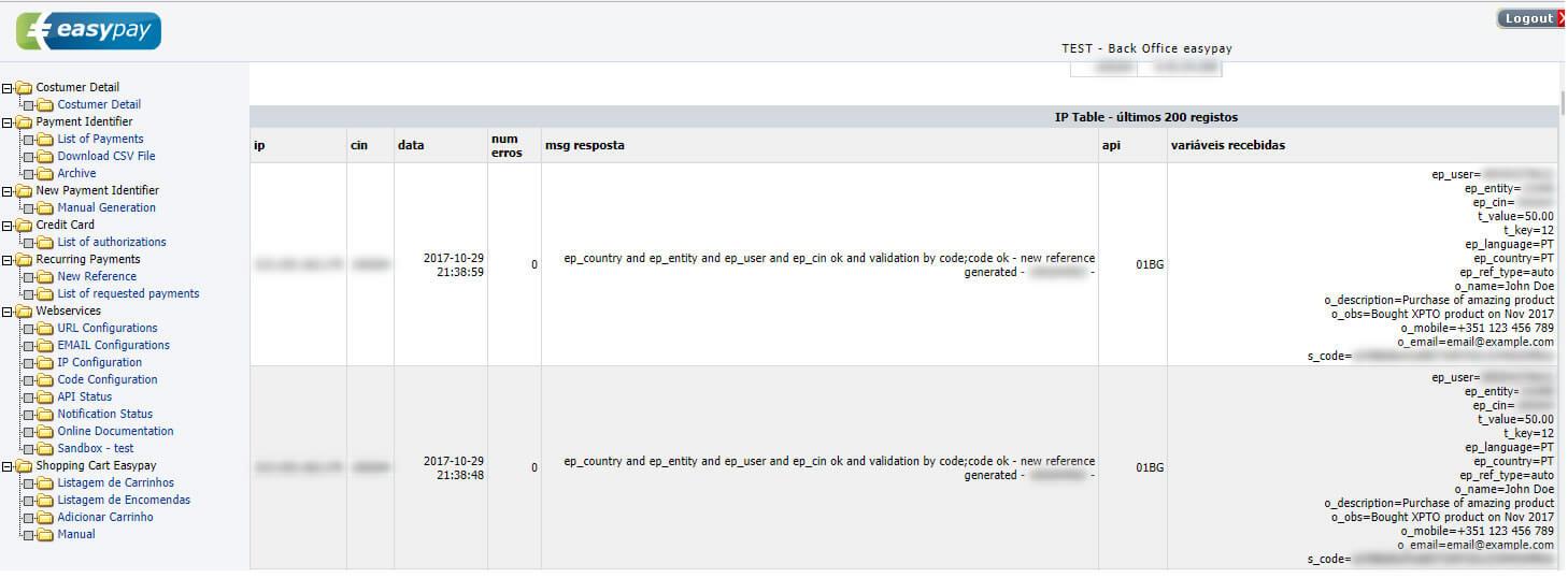 Integração de pagamentos por MB com Easypay images/22-integracao-servico-pagamentos-easypay-multibanco-mb-atm/297-easypay-backoffice-webservices-api-status.jpg