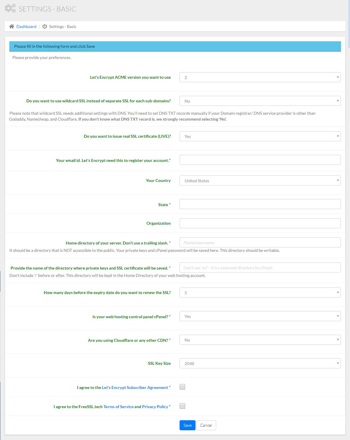 Emitir certificados SSL gratuitos Let's Encrypt automaticamente no cPanel images/26-emitir-certificados-gratuitos-lets-encrypt-automaticamente-cpanel/27-free-ssl-certificate-app-basic-settings.png