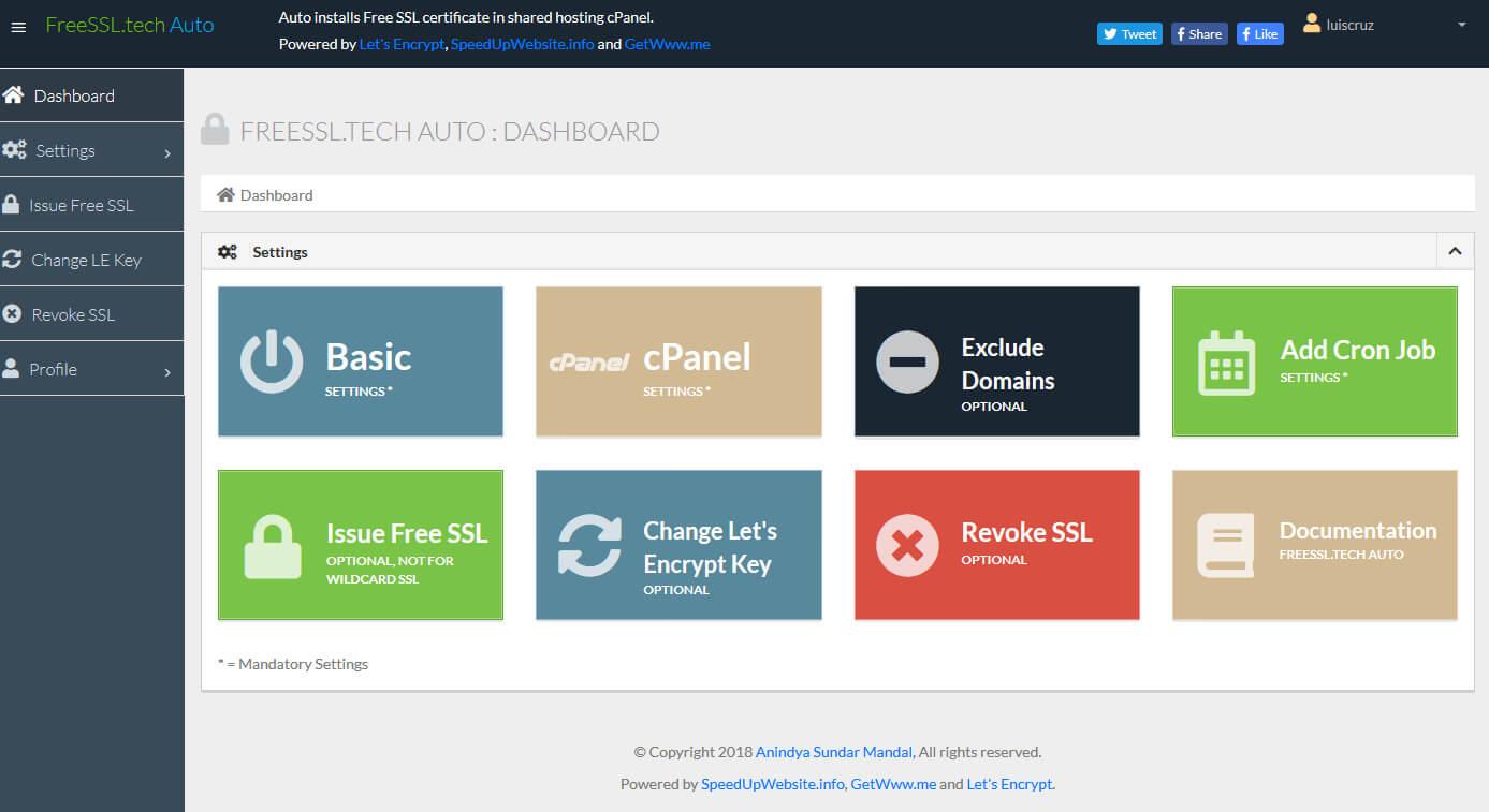 Emitir certificados SSL gratuitos Let's Encrypt automaticamente no cPanel images/26-emitir-certificados-gratuitos-lets-encrypt-automaticamente-cpanel/freessl.tech-dashboard.jpg
